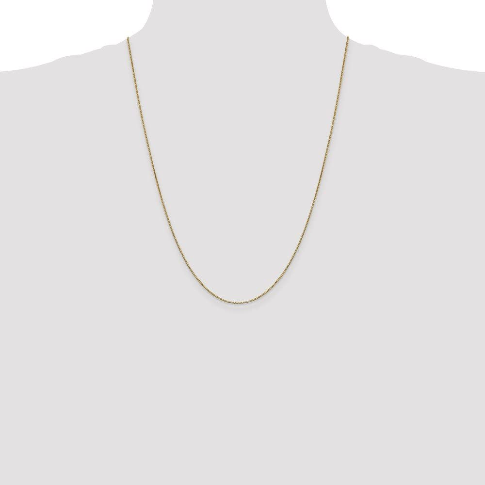 FB Jewels Solid 14K Yellow Gold .90mm Box Chain Bracelet//Anklet