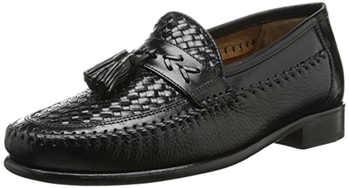 Florsheim Men's Swivel Woven Moc Tassel Slip-On Loafer, Black, 12 D US - Mens Swivel