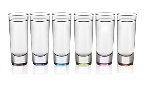 (Libbey Troyano Multi-Color Shooter Glasses, Set of 6 )