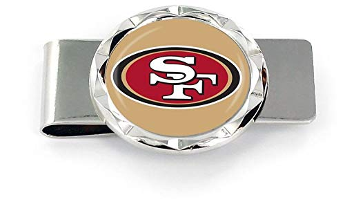 (aminco NFL San Francisco 49ers Diamond Cut Logo Money Clip, Team)