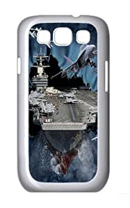 Aircraft Carrier Breakthrough Polycarbonate Hard Case Cover for Samsung Galaxy S3/Samsung Galaxy I9300 White