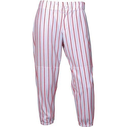 Intensity Girls Softball Pin Stripe Pant, White/Scarlet, ...