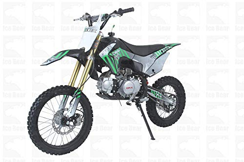SmartDealsNow Exclusive 125cc Dirt Bike for Teen/Adult  Motorcross Pitbike Standard with Clutch Dirtbike (Green) - Icebear WHIP
