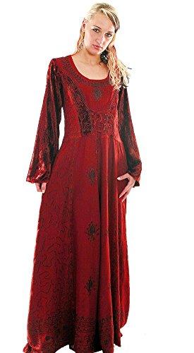 Bäres Mittelalter Brautkleid - Damen Finja Weiß