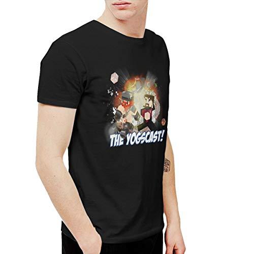 Douglas-A Mens Cool Yogscast Tee Black (Yogscast Shirts)