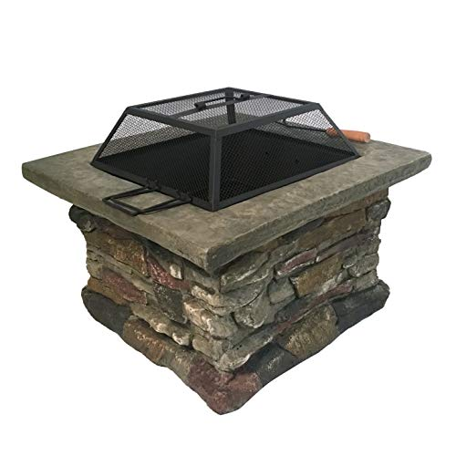 (Margo Garden Products FPW-19801 Dragon Fire Pit, Stone)