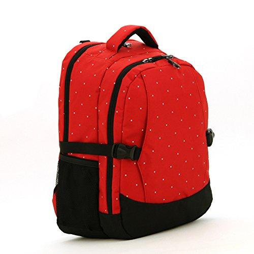 Multifunción Cojín del Pañal del Bebé Bolso Cambiador de Pañales Mochila Momia Bolso (caqui) rojo