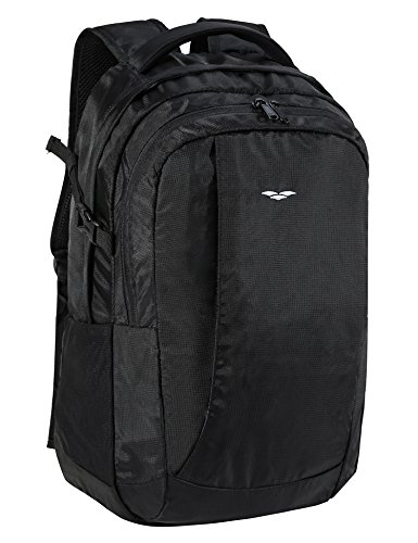 MIER Men's Business Laptop Backpack for Travel, School,Casual,Multi-Pockets,Black