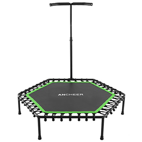 Ancheer Mini Rebounder Trampoline with Handle,Safe Fitness Cardio Trampoline Trainer (Green)
