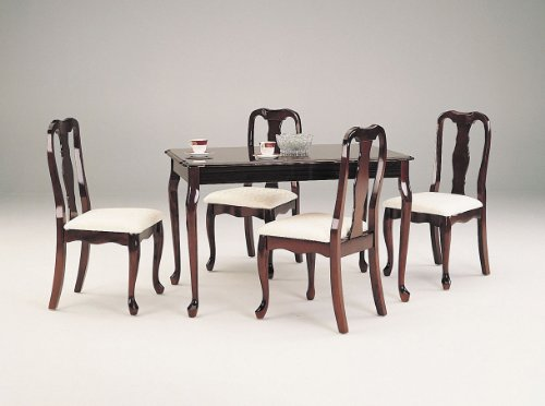 ACME Queen Anne Cherry Dining Set 5 Piece