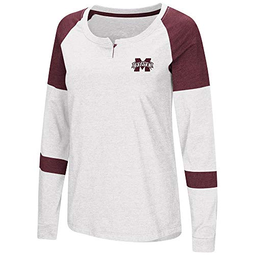 (Colosseum Womens Mississippi State Bulldogs Long Sleeve Raglan Tee Shirt - M)