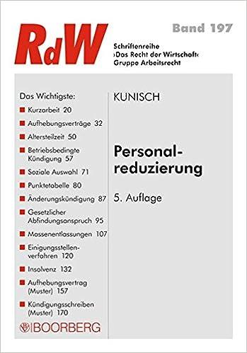 Personalreduzierung Schriftenreihe Rdw Peter Kunisch Amazonde