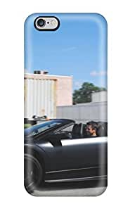 Cody Elizabeth Weaver Scratch-free Phone Case For Iphone 6 Plus- Retail Packaging - Lamborghini Murcielago Lp6 Roadster Doors Up Drives