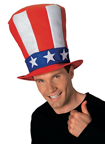 Rubie's Men's Uncle Sam Stovepipe Hat, Multi, One Size