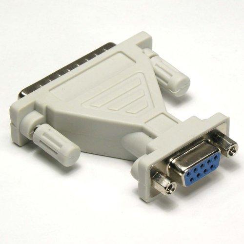 GOWOS DB9-F/DB25-M Serial Adapter, Thumbscrew(DB25)/Nut(DB9) (Db9f Thumb Screws)