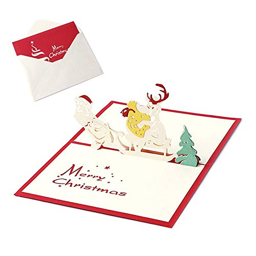 T-shirts Gifts Postcard - Best Quality - Cards & Invitations - Pop Up Christmas Cards Merry Christmas Series Santa's Handmade Custom Greeting Cards Christmas Gifts Souvenirs Postcards - by jimmy liam - 1 PCs