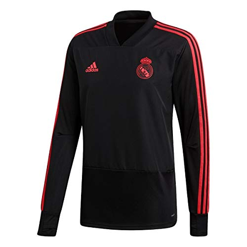 adidas Real Madrid Europe Training Top (Black/Real Coral) Size Small