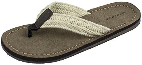 Dockers Men's Nicholas Casual Sandal with Webbing Upper Flip Flop, Tan, X-Large/11-12 M (Webbing Flip Sandal)