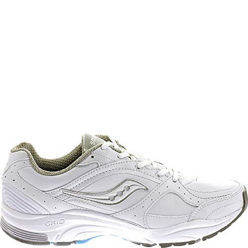 Saucony Women's ProGrid Integrity ST2 Walking Shoe,White/Silver,6.5 B(M) US