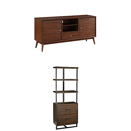 Lexicon District Entertainment Set with Metal Frame, Brown -
