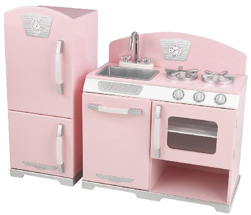 Kidkraft Retro Kitchen and Refrigerator in Pink (Pottery Barn Kitchen compare prices)