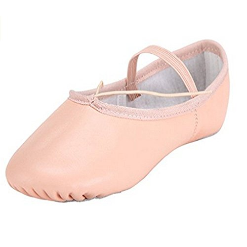 Baysa 7 Leather For Girls Adult Shoes Pink UK Sole Sizes 5 All Women Ballet Split 1rUYP1