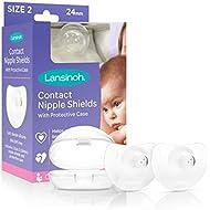 Lansinoh Nipple Shield for Breastfeeding, 2ct 24 Milimeter