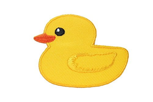 Giant Yellow Duck World Tour Appliques Hat Cap Polo Backpack Clothing Jacket Shirt DIY Embroidered Iron On / Sew On Patch