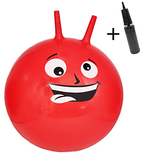 AG Hopping Hippity Hop Ball Hopper Jumping Ball for Kids Pump Included (Red, Medium)