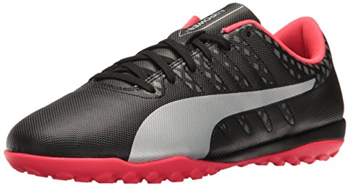 PUMA Men's Evopower Vigor 4 TT Soccer Shoe, Black Silver/Quiet Shade/Bright Plasma, 6.5 M US