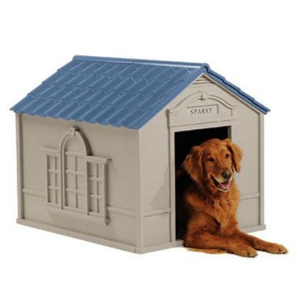 Large Outdoor Dog House Big Pet Kennel All Weather Doghouse Puppy Shelter Bed by Suncast