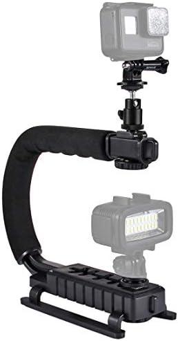 KANEED カメラスタビライザー 撮影安定化機材 手振れ防止 PULUZ U/C形状ポータブルハンドヘルドDVブラケットスタビ
