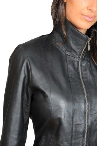 A1 Manches Noir Blanc Femme Fashion Blouson Goods Longues wwCxZpz4q