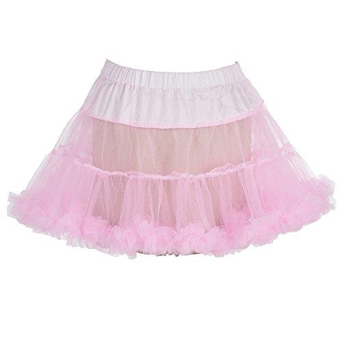 """Boolavard 18 """"50s Retro Tutú Petticoat Underskirt Enagua Negro, Blanco, Rojo, Rosa, Azul Rosado"""