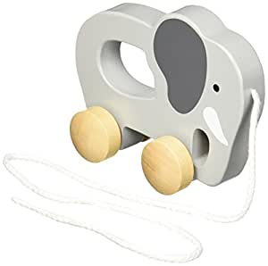Hape Elephant Wooden Push and Pull Toddler Toy