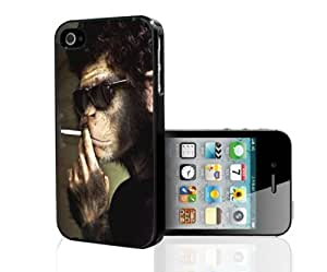 Cool Smoking Monkey Wearing Shades Hard Snap on Phone Case (iPhone 5/5s)