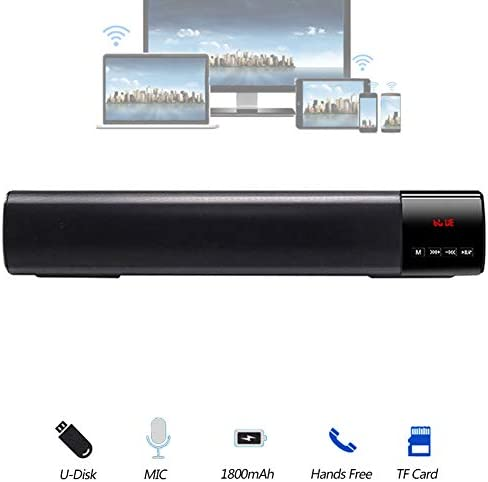 10W Bluetooth Speaker, with LED Display, DSP Digital Sound,