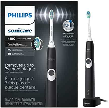 Philips Sonicare ProtectiveClean 4100 Rechargeable Electric Toothbrush, Black HX6810/50