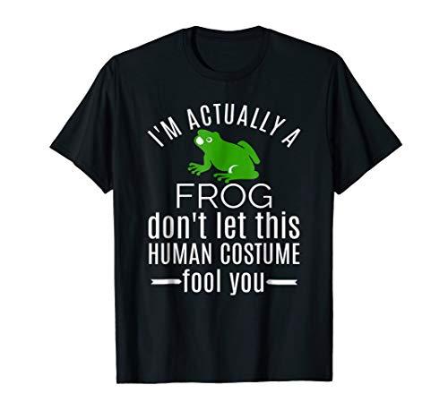 Mens Unique Gifts for Men Human Costume I'm a Frog T shirt Medium Black -