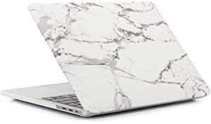 For Apple Macbook Air 11 11.6 Inch Soft Touch Hard Plastic Body Shell Case Cover/White Marble