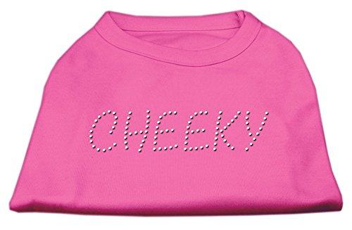 Mirage Pet Cheeky Rhinestone Cotton Sleeveless Shirt Bright Pink - Small - 10