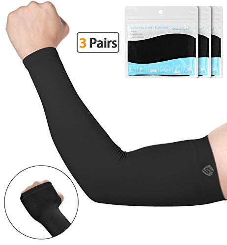 a5859ed23aae0 SHINYMOD UV Protection Cooling or Warmer Arm Sleeves for Men Women Kids  Sunblock Protective Gloves Running Golf Cycling Driving 1 Pair/ 3 Pairs/ 5  Pairs ...