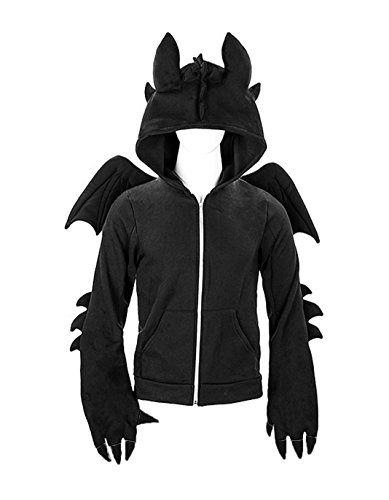 kaguster Unisex-Adult Animal Hoodie Costume (L, Toothless)
