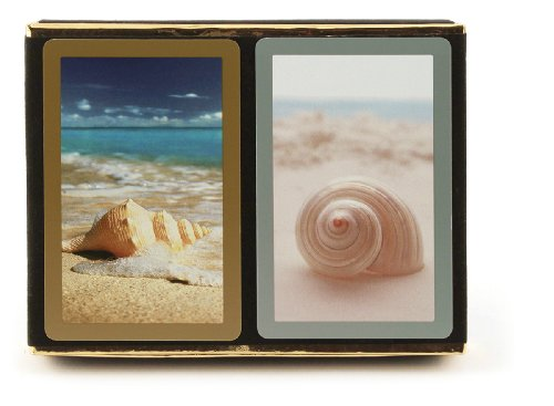 Congress Seashell Playing Cards - Jumbo Index (Pack of 2) (Card Seashell)