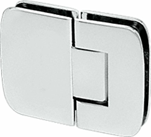 CRL Roman 180 Series Polished Nickel 180186; Glass-To-Glass Standard Hinge ()
