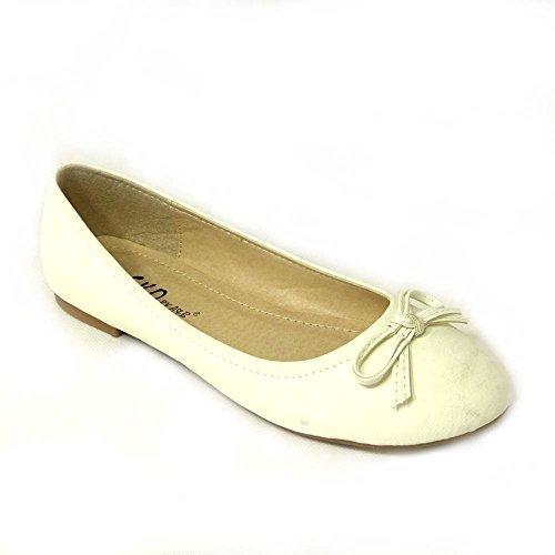 SKO'S donna Ballerine 6 White t11 rBr5wq6