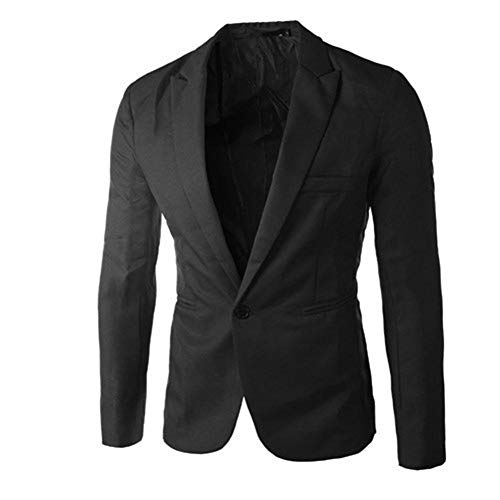 - TWGONE Charm Men's Casual Slim Fit One Button Suit Blazer Coat Jacket Tops Men Fashion(XXX-Large,Black)