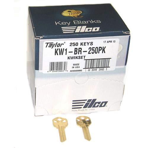 Ilco Kwikset KW1 Key Blanks - Box of 250, Brass ()