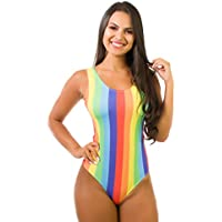 Body Kaisan Sublimado Cavado nas Costas Color Stripes