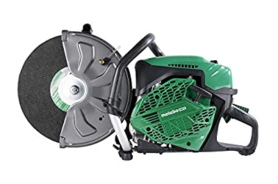 Metabo HPT CM75EBP 14-Inch Gas Powered Cut-Off Saw, 75cc 2-Cycle Engine, On-Board Mounted Service Tools, Includes Abrasive Wheel, Water Kit, and Reducer Ring, Heavy Duty Air Filtration System